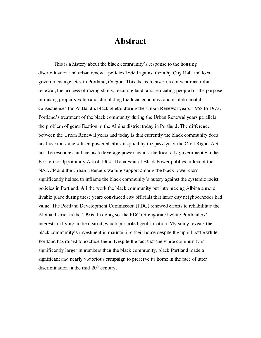 Master thesis abstract how long