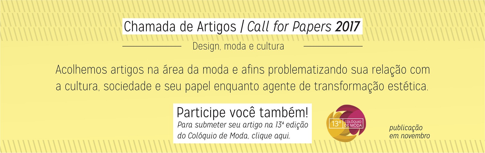 Chamada de artigos / Call for Papers 2017